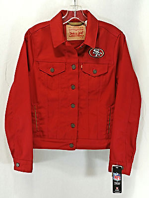 LEVI STRAUSS & CO. Women's San Francisco 49ers Red Jean Jacket Size M Medium