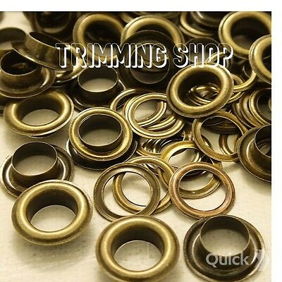100 x 14mm Bronze Eyelets Grommets with Washers for Banners Craft Banners Vinyl