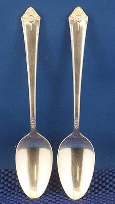 2 Rogers & Bro Starlight Serving Spoons TWO