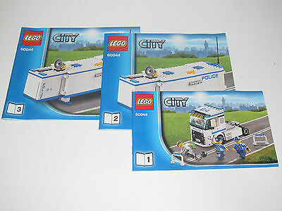 Lego notice manuel instruction montage city avion - Lego city police camion ...