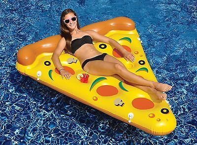 NEW Swimline 90645 Swimming Pool Inflatable Pizza Slice Float Raft Fun Water Toy