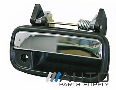 Toyota Hilux Door Handle RH Front Outer Black/Chrome 1988-1997 *New*