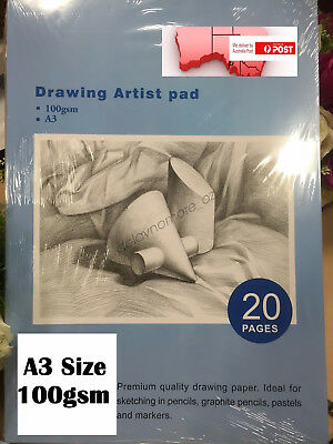 A3 Drawing Paper Art Artist Sketchbook Sketch Pad Journal Graphite Pastels VIC