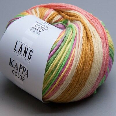 Lang Yarns Kappa Color 344 orange-grün 50g Wolle