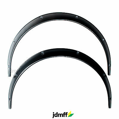Universal JDM Fender Flares overwide body wheel arches ABS 50mm 2pcs