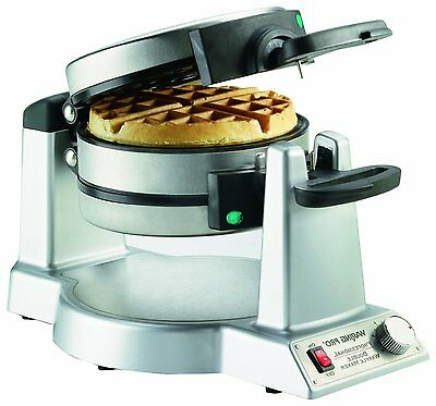 Double Waffle Maker Belgian Commercial Kitchen Baker Stainless Breakfast Machine