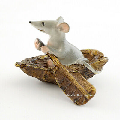 Miniature Mouse Rowing Boat TO 4469  Fairy Garden Dollhouse
