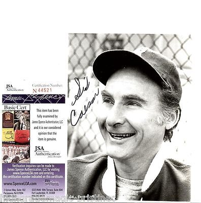 Sid Caear  (Deceased) 4X6 Signed Jsa Authenticated #N44521