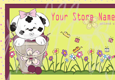 Adorable Bucket Pup eBay Auction Template Listing Template