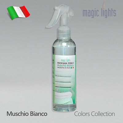Profumo Per Tessuti Biancheria Spray 250Ml Sedili Auto No Gas Profumo Muschio