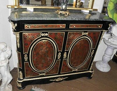 French Boulle Credenza Cabinet Inlay Furniture