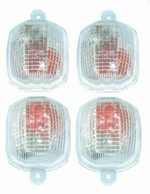 FOUR CLEAR Indicator Lenses suit YZF-R1 FRONT & REAR 1998 1999 2000 2001