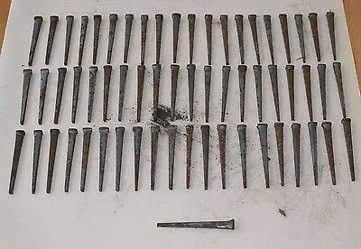 "Lot of 61 Thick Antique Vintage Square Nails 3.5"" Inches"