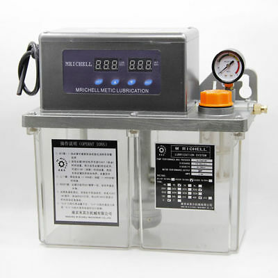 4L Auto Lubrication Pump CNC Digital Electronic Timer Oiler 220V