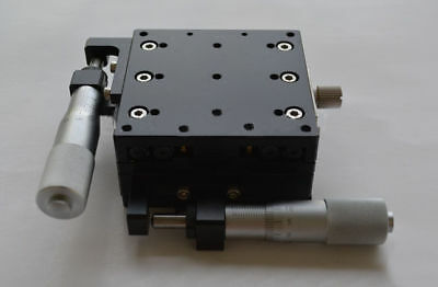 XY-Axis Manual Fine-tuning Displacement Stage Trimming Platform Cross Rail Table