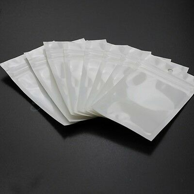 100pcs Plastic Bag Resealable Hang Hole Pocket For Retail Packing 6.5x9.5cm