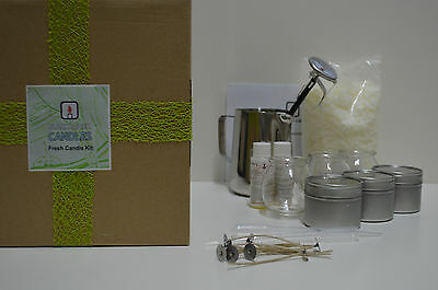 Blackadder Candles Gift Boxed 100% soy beginners candle kit 5 fragrance choices
