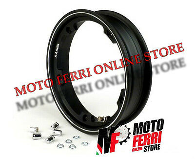 Cerchio Tubeless Margherita Nero 3-00-10 Vespa 50 Special - Made In Italy
