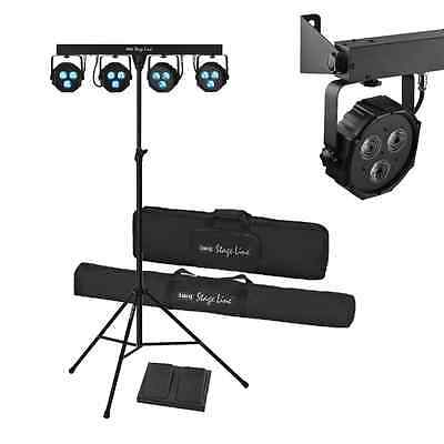 Stage-Line Compact Lightweight Mobile Stage 3w LED Lighting System Band Party DJ