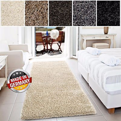 set 3 l ufer bettumrandung denver shaggy hochflor langflor teppich in 5 farben eur 59 99. Black Bedroom Furniture Sets. Home Design Ideas