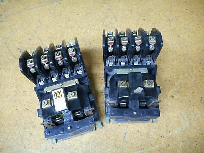 Square D 8501-H0-40 Ser B Control Relays 10Amp With 110/120V 50/60Hz Coil (2)