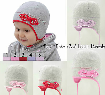 Infant Girls Toddlers Spring Autumn Cotton Elastic Hat Size 9 - 24 mths