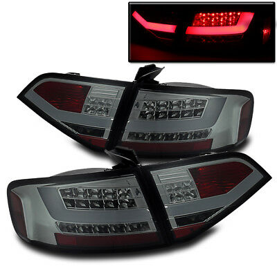 2009-2012 Audi A4/s4 4Dr Sedan Smoke Altezza Led Bar Rear Tail Brake Lights Pair