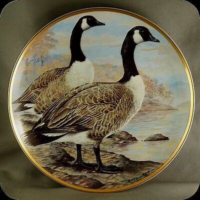Bart Jerner Canada Goose Water Birds of the World Franklin Porcelain
