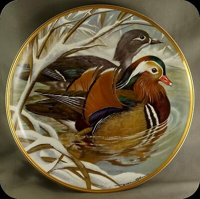 Bart Jerner Mandarin Duck Water Birds of the World Franklin Porcelain