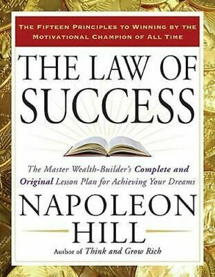 NEW The Law of Success By Napoleon Hill Paperback Free Shipping