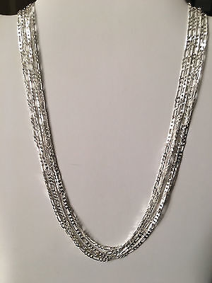5 Sterling Silver Figaro Chains