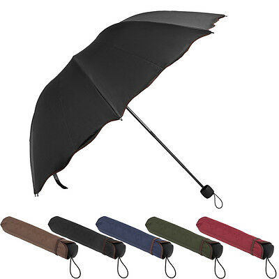Women Windproof Anti-UV Parasol Sun/Rain Protect Non-Automatic Folding Umbrella