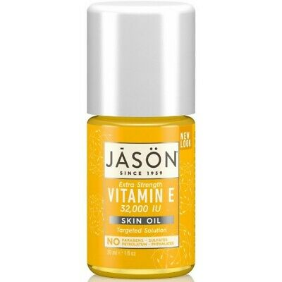 Jason Extra Strength VITAMIN E 32,000 I.U. Pure Natural SKIN OIL 30ml 32000 IU