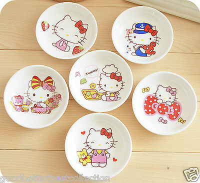 1X Kawaii Hello Kitty Round Small Dish Plate Cooking Tools Kitchen