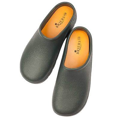 Briers Traditional Green Garden Clogs Outdoor Footwear Gardening Shoes Gift New