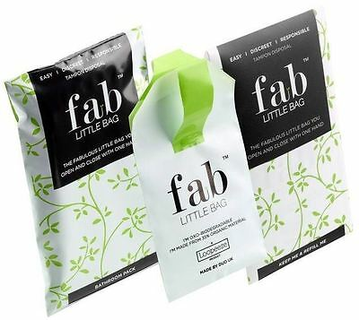 Fab Little Bag Sealable One Handed Tampon Disposal Bag 14g (Pack of 12)