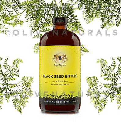 BLACK SEED BITTERS with MORINGA~DETOX~32 oz~The Original+Best by Gye Nyame