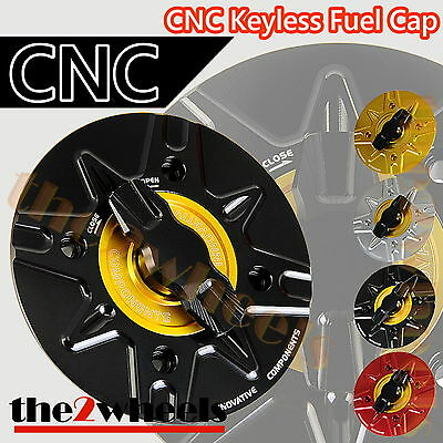 CNC 1/4 Turn Racing Keyless Quick Open Gas Fuel Cap MV AGUSTA BRUTALE 1078 09-15