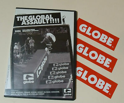 GLOBE The Global Assault Skateboards DVD & Sticker Lot/ Set Skate  Shoes