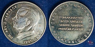 Dr. Arvid Harnack 1901-1942 MfS - DDR - Medaille Neusilber ca 15g 33mm