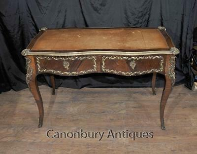French Empire Antique Desk Writing Table Bureau Plat 1860