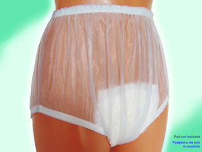 Plastic WATERPROOF ADULT INCONTINENCE REUSABLE PANTS DIAPER COVER 1PCS Clearance
