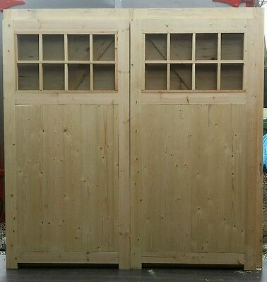 Wooden timber garage doors with windows  7ft high x 7 ft wide (2133x2133mm)