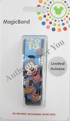 NEW Disney World 2015 Sorcerer Mickey Magic Band Blue Link It Later MagicBand