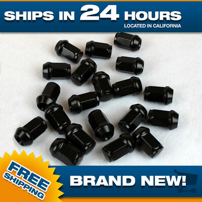 12x1.5 lug nut Black lugnuts for Honda Acura Scion Set of 20 pcs Acorn m12x1.5