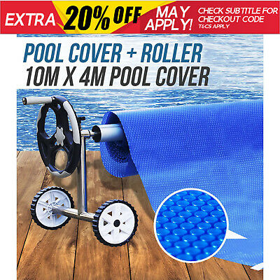 NEW SWIMMING POOL COVER/ ROLLER Solar Bubble Blanket Reel Wheels Adjustable 5.5M