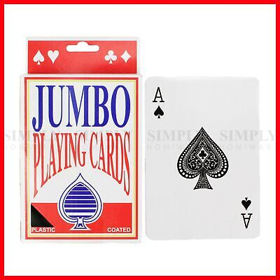 Jumbo Playing Cards Large Decks Premium Deck of Card Games Giant Plastic Coated