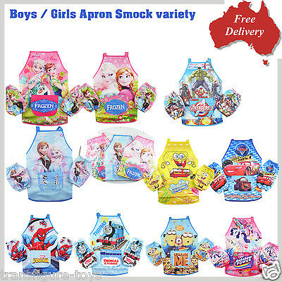 Boys Girls kids Apron waterproof cooking chef painting art craft apron smock new