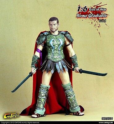 CMTOYS H011 1:6 Rome Gladiators Warlord Edition Gold Action Figure Clothes Head