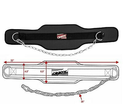 Weight Lifting Dipping Belt Weight Dip Lifting Chain Gym Exercise Back Support.